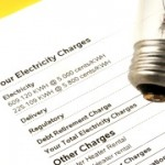 lightbulb on electricity bill stating wattage and monthly charges